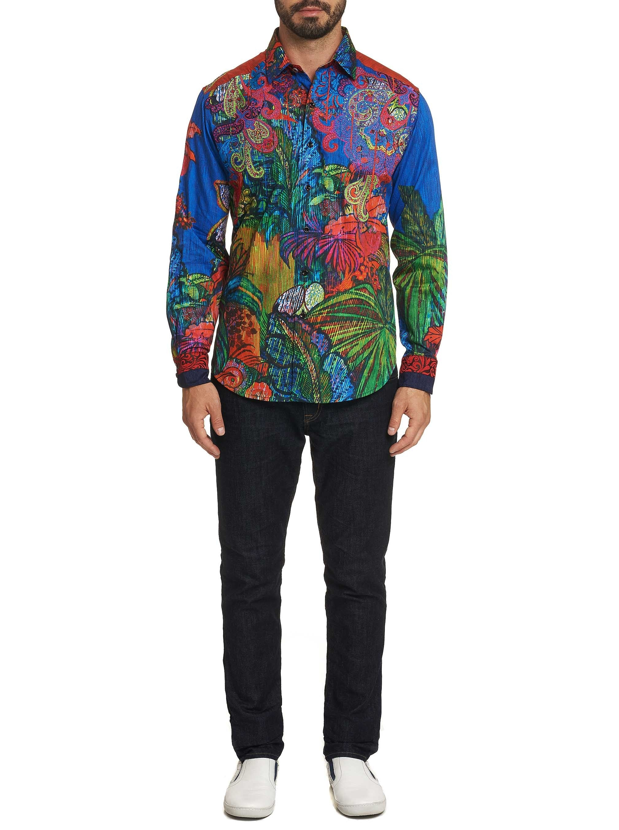 LIMITED EDITION TROPICAL HARMONY SPORT SHIRT TAILORED FIT