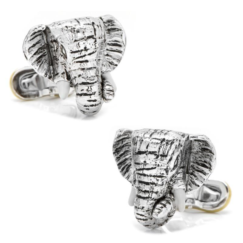 Elephant with Peanut Cufflinks,CUFFLINKS,GentRow.com, | GentRow.com