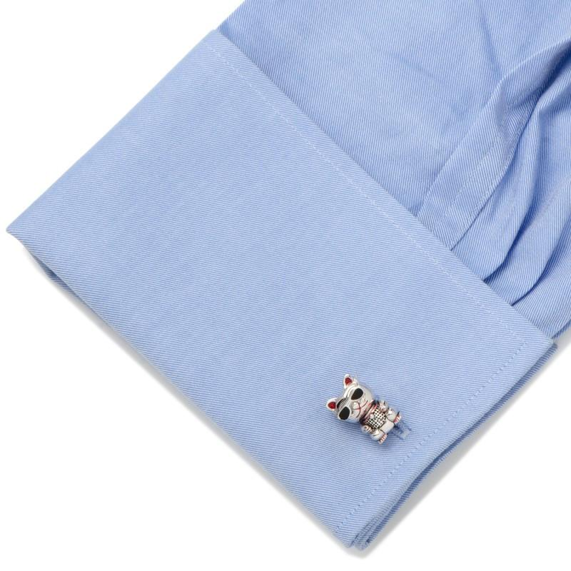 Cool Bobble Head Cat in Sunglasses Cufflinks,CUFFLINKS,GentRow.com, | GentRow.com