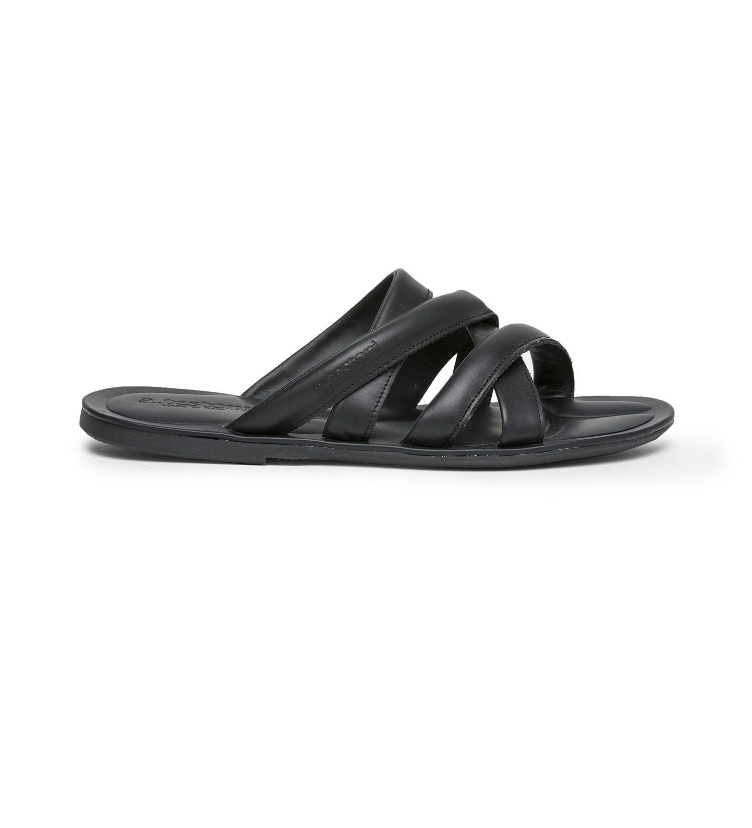 LEATHER SANDAL,SANDAL,A.TESTONI, | GentRow.com