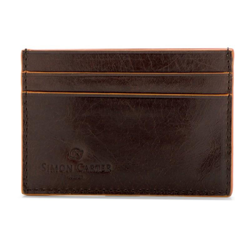 Brown Credit Card Holder with Cinnamon Edge,CARD CASE,GentRow.com, | GentRow.com