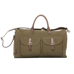 Olive Waxed Canvas Garment Weekender,BAGS,GentRow.com, | GentRow.com