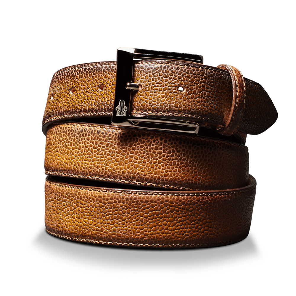 Belt in Scotch Grain Sombrero