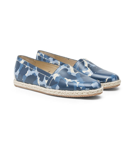 CAMOUFLAGE ESPADRILLES IN LEATHER