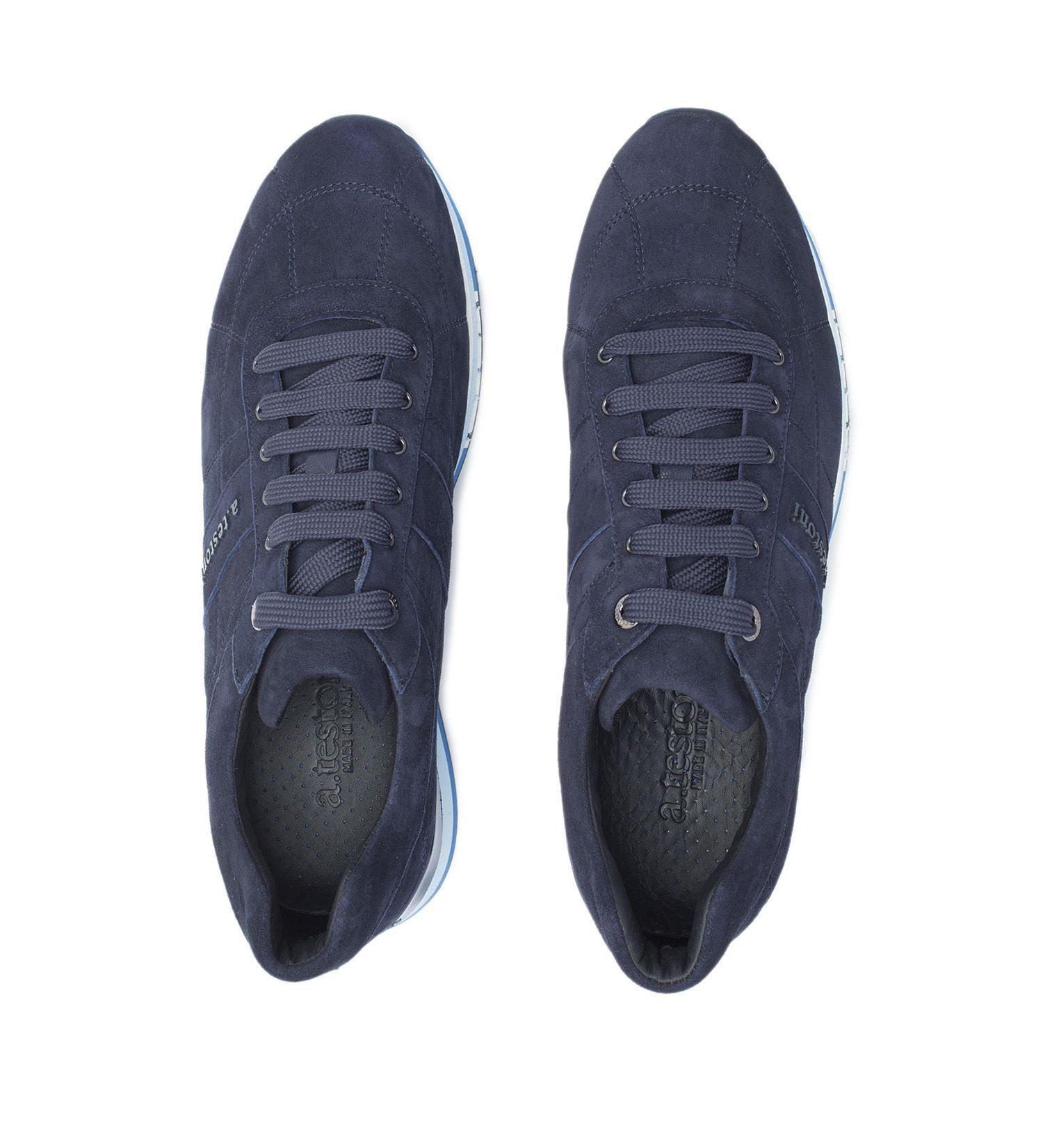 SNEAKER IN SUEDE,SHOES,A.TESTONI, | GentRow.com