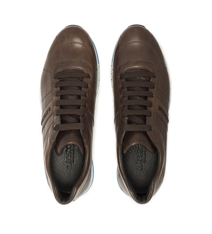 ANTIQUED LEATHER SNEAKER