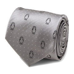 Porg Dot Gray Men's Tie,TIE,GentRow.com, | GentRow.com