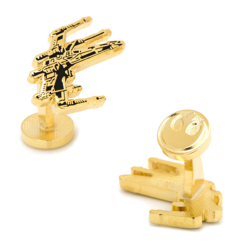 Gold Plated X-Wing Cufflinks,CUFFLINKS,GentRow.com, | GentRow.com