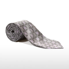 Tailored gray and black silk tie 416256-05