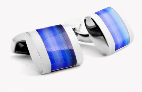 Optic Regato Cufflinks in Blue