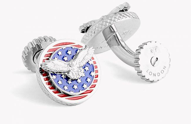 American Eagle Rotating Cufflinks,CUFFLINKS,TATEOSSIAN, | GentRow.com