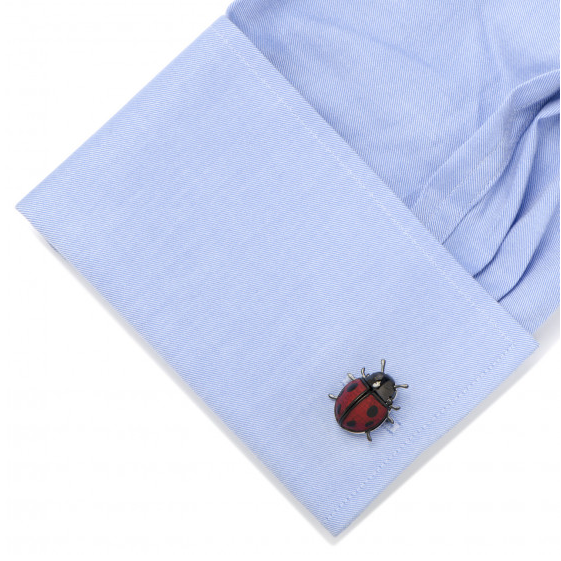 MOVING LADYBUG CUFFLINKS,CUFFLINKS,CUFFLINKS, | GentRow.com