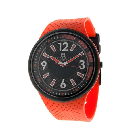 Orange Racing Time Silicon Strap Watch
