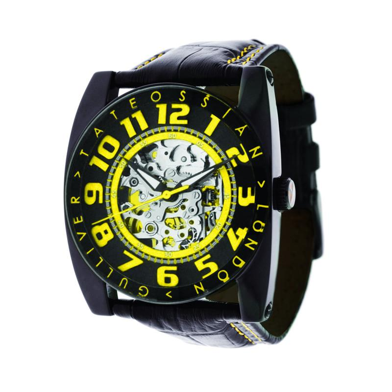 Yellow Gulliver Skeleton Sport Watch Stainless Steel,Watches,GentRow.com, | GentRow.com