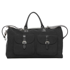 Black Waxed Canvas Garment Weekender Bag,BAGS,GentRow.com, | GentRow.com