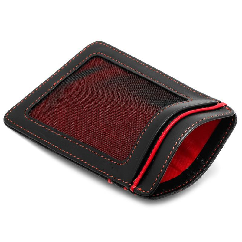 RFID Slim Card Wallet - Black & Red,CARD CASE,Gent Row, | GentRow.com