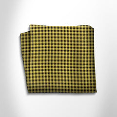 Yellow and black silk pocket square,POCKET SQUARE,Gent Row, | GentRow.com