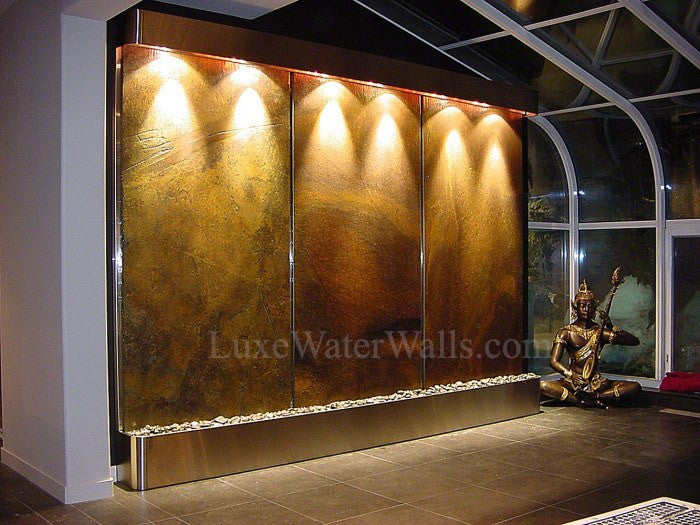 large wall water fountain