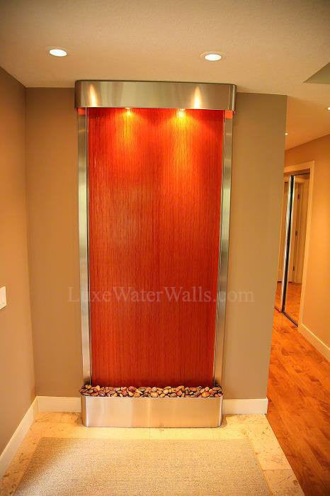 indoor glass water feature