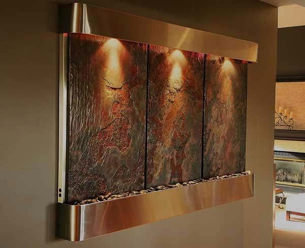 Indoor Water Features | Large Water Walls and Wall Fountains