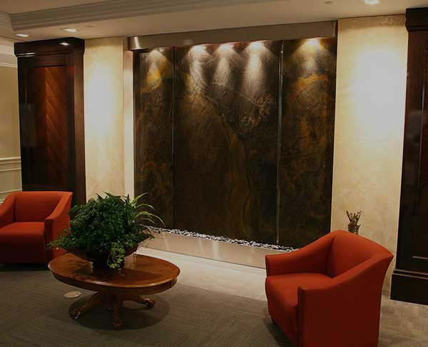 Indoor water features large water walls and fountains - Indoor wall water features ...
