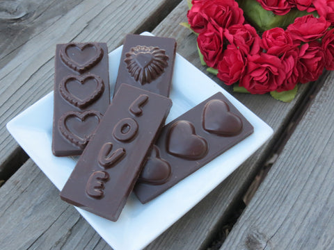 A Pair of Chocolate Heart Bars