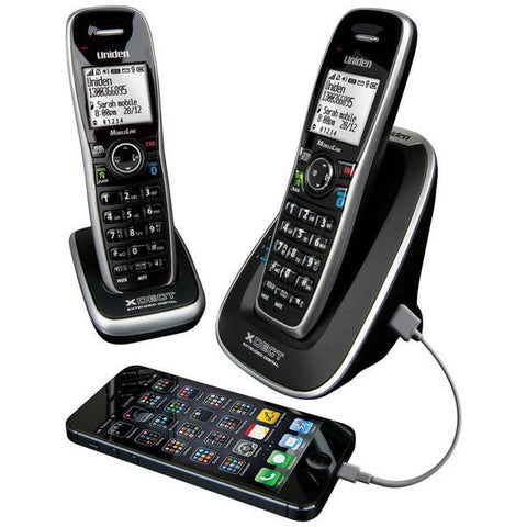 Uniden XDECT 8155+1 Double Handsets Bluetooth Cordless Phone System - Black - Office Equipments - A&B Mart Australia - 1
