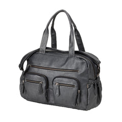 OiOi Charcoal Buffalo Carry All Nappy Bag | Buy Nursery Products Online With the Best Deals at Anbmart.com.au!