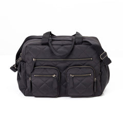 Oioi Black Diamond Quilt Carry All Nappy Bag | Buy Nursery Products Online With the Best Deals at Anbmart.com.au!