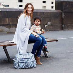 Oioi Smokey Blue Eclipse Dot Carryall Nappy Bag | Buy Nursery Products Online With the Best Deals at Anbmart.com.au!