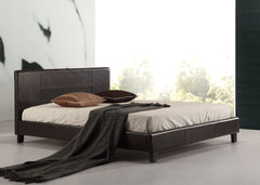 Double PU Leather Bed Frame Brown | Buy Bedroom Furniture Products Online With the Best Deals at Anbmart.com.au!