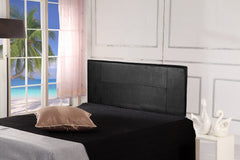 PU Leather Queen Bed Headboard Bedhead - Black - Bedroom Furniture - ANB Mart