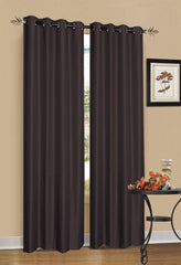 Chocolate Brown Blockout Curtains - 2 Pack - Curtains & Blinds - ANB Mart