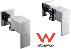 Chrome Laundry Washing Machine Stops Mixer Tap Set w/ WaterMark | Buy Home Renovation & DIY Products Online With the Best Deals at Anbmart.com.au!