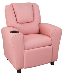 PU Leather Kids Recliner with Drink Holder | Buy Lounge Furniture Products Online With the Best Deals at Anbmart.com.au!
