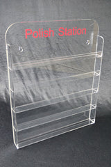 Nail Polish Display 5mm Acrylic Stand Wall Mount Holds 60-65 | Buy Other Health & Lifestyle Products Online With the Best Deals at Anbmart.com.au!