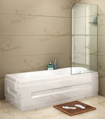 700 x 1450mm Frameless Bath Panel 10mm Glass Shower Screen By Della Francesca | Buy Home Renovation & DIY Products Online With the Best Deals at Anbmart.com.au!