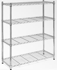 Modular Chrome Wire Storage Shelf 900 x 350 x 1800 Steel Shelving | Buy Office Furniture Products Online With the Best Deals at Anbmart.com.au!