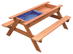 Sand & Water Wooden Picnic Table | Buy Kids Games & Toys Products Online With the Best Deals at Anbmart.com.au!