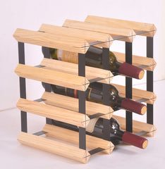 12 Bottle Timber Wine Rack - Complete Wooden Wine Storage System | Buy Gifts & Novelty Products Online With the Best Deals at Anbmart.com.au!