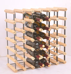 42 Bottle Timber Wine Rack - Complete Wooden Wine Storage System | Buy Gifts & Novelty Products Online With the Best Deals at Anbmart.com.au!