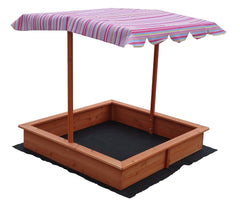 Kids Wooden Toy Sandpit with Adjustable Canopy | Buy Kids Games & Toys Products Online With the Best Deals at Anbmart.com.au!
