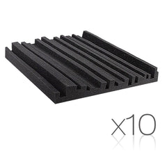 Set of 10 Studio Acoustic Foam Black | Buy Music, Studio & Accessories Products Online With the Best Deals at Anbmart.com.au!