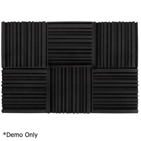 Set of 10 Studio Acoustic Foam Black - Music, Studio & Accessories - ANB Mart