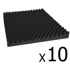 Studio 10 Eggshell Acoustic Foam Black 50 x 50cm | Buy Acoustic Foam Products Online With the Best Deals at Anbmart.com.au!