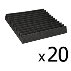 Set of 20 Studio Wedge Acoustic Foam Black 30 x 30cm | Buy Music, Studio & Accessories Products Online With the Best Deals at Anbmart.com.au!
