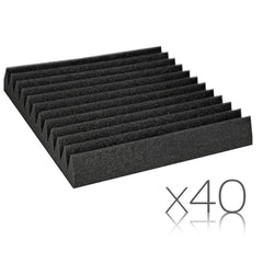 12 Teeth Wedge 30 x 30cm Acoustic Foam Panels x 40 - Music, Studio & Accessories - ANB Mart