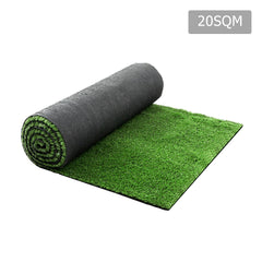 Artificial Grass 20 SQM Polypropylene Lawn Flooring 15mm Olive - Artificial Grass & Greenhouses - ANB Mart