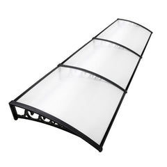 DIY Window Door Awning Cover Transparent 100 x 300cm | Buy Awnings Products Online With the Best Deals at Anbmart.com.au!