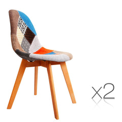 Set of 2 Replica Eames Dining Chairs Fabric | Buy Barstools & Chairs Products Online With the Best Deals at Anbmart.com.au!